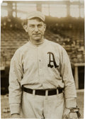 Baseball Collectibles:Photos, 1915 Napoleon Lajoie Original News Photograph, PSA/DNA Type 1....