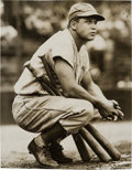 Baseball Collectibles:Photos, 1933 Jimmie Foxx Original News Photograph, PSA/DNA Type 1....