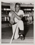 Baseball Collectibles:Photos, 1955 Willie Mays Original News Photograph, PSA/DNA Type 1....
