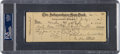 Baseball Collectibles:Others, 1949 Mickey Mantle Signed Independence (KS) Yankees Payroll Check....