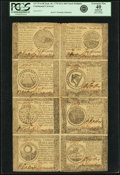Colonial Notes:Continental Congress Issues, Continental Currency September 26, 1778 Uncut Half Sheet of$60-$50-$40-$30/$20-$8-$7-$5 Notes Fr. CC-86 to CC-79. PCGSExtrem...
