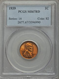 Lincoln Cents: , 1939 1C MS67 Red PCGS. PCGS Population (422/3). NGC Census: (846/0). Mintage: 316,479,520. Numismedia Wsl. Price for proble...