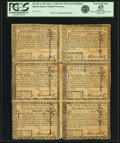 Colonial Notes:Rhode Island, Rhode Island July 2, 1780 Uncut Block of $7-$8-$20/$2-$3-$4 NotesFr. 287-288-289/283-284-285. PCGS Extremely Fine 45 Apparent...