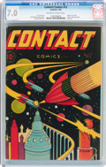 Golden Age (1938-1955):Science Fiction, Contact Comics #12 (Aviation Press, 1946) CGC FN/VF 7.0 Off-whiteto white pages....