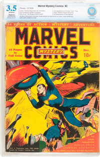 Marvel Mystery Comics #2 (Timely, 1939) CBCS Restored VG- 3.5 Slight to Moderate (A) Off-white pages