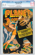 Golden Age (1938-1955):Science Fiction, Planet Comics #45 (Fiction House, 1946) CGC VF+ 8.5 Cream tooff-white pages....
