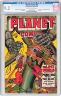 Golden Age (1938-1955):Science Fiction, Planet Comics #64 (Fiction House, 1950) CGC NM- 9.2 Off-white towhite pages....
