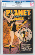 Golden Age (1938-1955):Science Fiction, Planet Comics #39 (Fiction House, 1945) CGC VF 8.0 Off-white towhite pages....