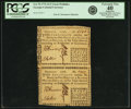Colonial Notes:Georgia, Georgia 1776 Fractional Denominations Uncut Pair of $1/2 Notes Fr.GA-70. PCGS Extremely Fine 40 Apparent.. ...