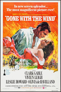 "Gone with the Wind (MGM, R-1974). One Sheet (27"" X 41""). Academy Award Winners"