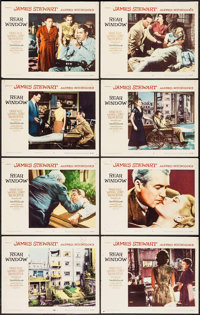 """Rear Window (Paramount, 1954). Lobby Card Set of 8 (11"""" X 14""""). Hitchcock. ... (Total: 8 Items)"""