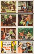 "Movie Posters:Western, Rim of the Canyon (Columbia, 1949). Lobby Card Set of 8 (11"" X 14""). Western.. ... (Total: 8 Items)"