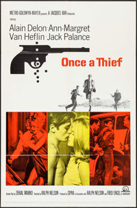 """Once a Thief & Others Lot (MGM, 1965). One Sheets (2) & Lobby Cards (8)(27"""" X 41""""). Crime. ... (Total:..."""