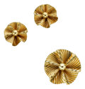 Estate Jewelry:Suites, Retro Gold Jewelry Suite. ... (Total: 3 Items)