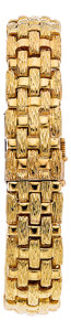 Estate Jewelry:Watches, Swiss Gold Covered Dial Bracelet Watch, retailed by Neiman Marcus....