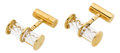 Estate Jewelry:Cufflinks, Glass, Gold Cuff Links, Steuben. ...