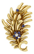 Estate Jewelry:Brooches - Pins, Diamond, Sapphire, Gold Brooch, Tiffany & Co.. ...