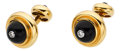 Estate Jewelry:Cufflinks, Diamond, Black Onyx, Gold Cuff Links, Paloma Picasso for Tiffany & Co.. ... (Total: 2 Items)