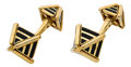 Estate Jewelry:Cufflinks, Enamel, Gold Cuff Links, Jean Schlumberger for Tiffany & Co.. ...