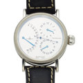 Timepieces:Wristwatch, Zeno Steel Automatic With Retrograde Minutes, 24 Hours. ...