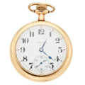 Timepieces:Pocket (post 1900), Hamilton 17 Jewel 974 Open Face Pocket Watch. ...