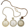 Timepieces:Pocket (post 1900), A Lot Of Three 12 Size Pocket Watches. ... (Total: 3 Items)