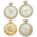 Timepieces:Pocket (post 1900), A Lot Of Four Elgin 12 Size Pocket Watches. ... (Total: 4 Items)