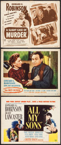 """Movie Posters:Drama, All My Sons & Others Lot (Universal International, 1948). TitleLobby Cards (2) & Lobby Card (11"""" X 14""""). Drama.. ... (Total: 3Items)"""