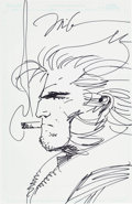 Original Comic Art:Sketches, Jim Lee - Wolverine Sketch Original Art (undated)....