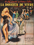 """Movie Posters:Foreign, La Dolce Vita (Consortium Pathe, 1960). Full-Bleed French Grande (46.25"""" X 62.25""""). Foreign.. ..."""
