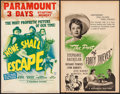 "Movie Posters:War, None Shall Escape & Other Lot (Columbia, 1944). Window Cards (2) (14"" X 22""). War.. ... (Total: 2 Items)"