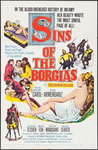 "Sins of the Borgias & Other Lot (United Artists, 1955). One Sheets (2) (27"" X 41""). Historical Drama..."