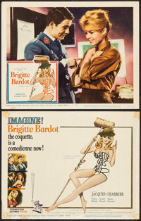 "Babette Goes to War (Columbia, 1960). Title Lobby Card & Lobby Card (11"" X 14""). Foreign. ... (Total: 2 It..."