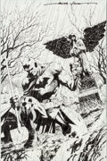 "Original Comic Art:Covers, Jim Lee and Scott Williams Batman #617 ""Hush: Chapter 10:The Grave"" Cover Original Art (DC, 2003)...."