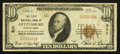 National Bank Notes:Pennsylvania, Gettysburg, PA - $10 1929 Ty. 1 The First NB Ch. # 311. ...