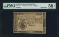 Colonial Notes:South Carolina, South Carolina December 23, 1776 $8 PMG Choice About Unc 58 Net.....