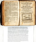 Books:Religion & Theology, [Alexander Ross. Pansebeia, or A view of All religions in the World... London: Printed by T. C. for John Saywell...,...