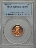 Proof Lincoln Cents, 1989-S 1C PR70 Red Deep Cameo PCGS. PCGS Population (236). NGC Census: (38). Numismedia Wsl. Price for problem free NGC/PC...
