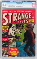 Golden Age (1938-1955):Horror, Strange Tales #13 (Atlas, 1952) CGC VG+ 4.5 Off-white to white pages....