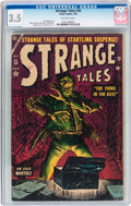 Golden Age (1938-1955):Horror, Strange Tales #30 (Atlas, 1954) CGC VG- 3.5 Off-white pages....