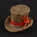 Miscellaneous:Other, Man's Bowler Hat with Ribbon Macerated Currency.. ...