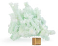 Minerals:Cabinet Specimens, Prehnite after Laumontite with Apophyllite. Mumbai District(Bombay District). Maharashtra. India. 5.71 x 4.72 x 3.94inch...