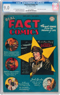 Golden Age (1938-1955):Non-Fiction, Real Fact Comics #4 (DC, 1946) CGC VF/NM 9.0 Off-white to whitepages....