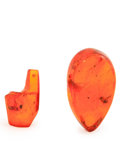 Amber, Amber. Eocene. Baltic Coast. Russia. 1.04 x 0.61 x 0.48 inches(2.65 x 1.54 x 1.23 cm). ... (Total: 2 Items)