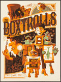 "Movie Posters:Animation, The Boxtrolls by Tom Whalen (Mondo, 2014). Autographed NumberedLimited Edition Screen Print Poster (18"" X 24""). Animation...."