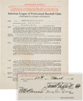 Baseball Collectibles:Others, 1934 Lou Gehrig Signed New York Yankees Player's Contract, PSA/DNA Mint 9....