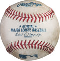 Baseball Collectibles:Balls, 2015 Kris Bryant Home Run Baseball Hit to Pass Billy Williams for Most Home Runs by a Chicago Cubs Rookie with Photo Documenta...