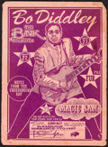 "Movie Posters:Rock and Roll, Bo Diddley at the Bank (The Bank, 1968). Concert Poster (16.5"" X22.5""). Rock and Roll.. ..."