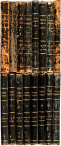 Books:Periodicals, [Bound Periodicals, Humor]. Sixteen Bound Volumes of Puck'sLibrary, Nos. 1 - 48 and 61 - 193. July 1887 - June 19...(Total: 16 Items)