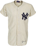 Baseball Collectibles:Uniforms, 1955 Whitey Ford Game Worn New York Yankees Jersey....